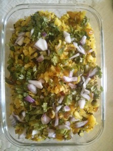 Poha with veggies