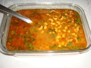 Black eyed beans curry New