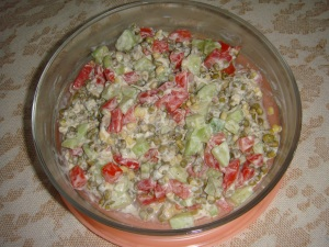 cucumber sprouts salad Pa