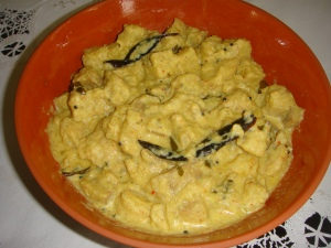 Raw bananana curry