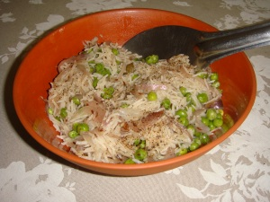 Rice pilaf with peas