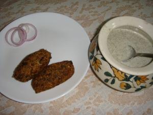 Lentil Kebabs with dip