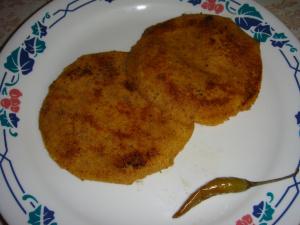Makki ki roti with bhurji