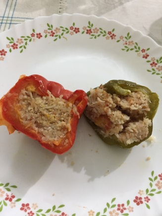 Bell peppers sliced